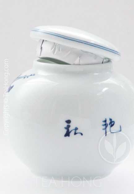 Hand-painted Blue-white China Tea Caddy
