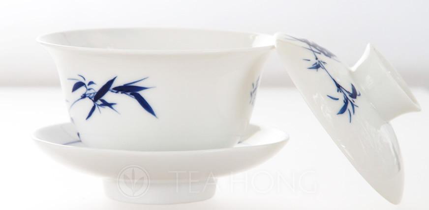 Blue and white china gaiwan