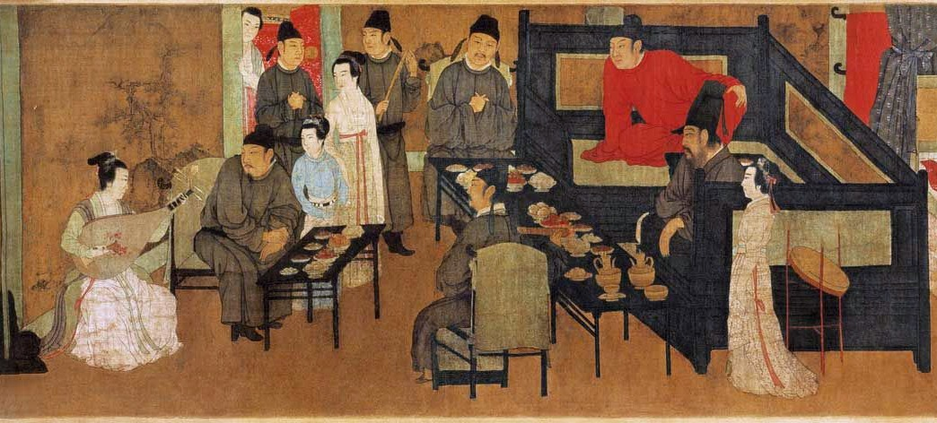 Detail of this artistically important painting reveals the leisurely and highly civilised life-style of the literal circle in the Song era