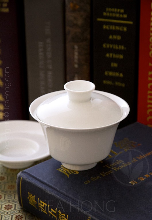 Utility Gaiwan: Classic White 150, view without saucer