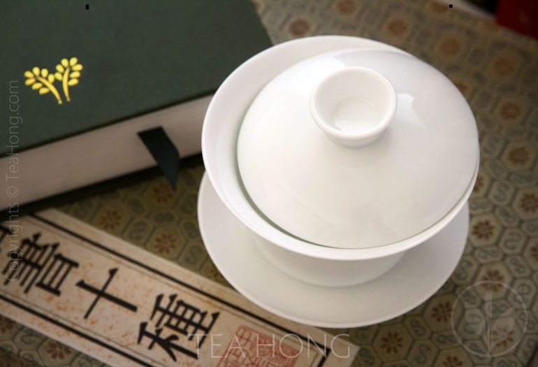 Classic White Utility Gaiwan Top View