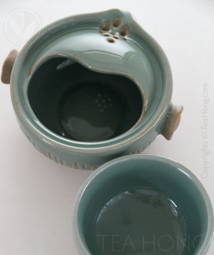Tea-for-one ( Half Celadon )