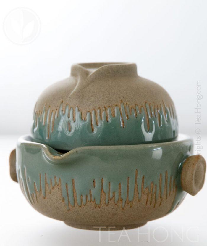 Tea-for-one ( Half Celadon )