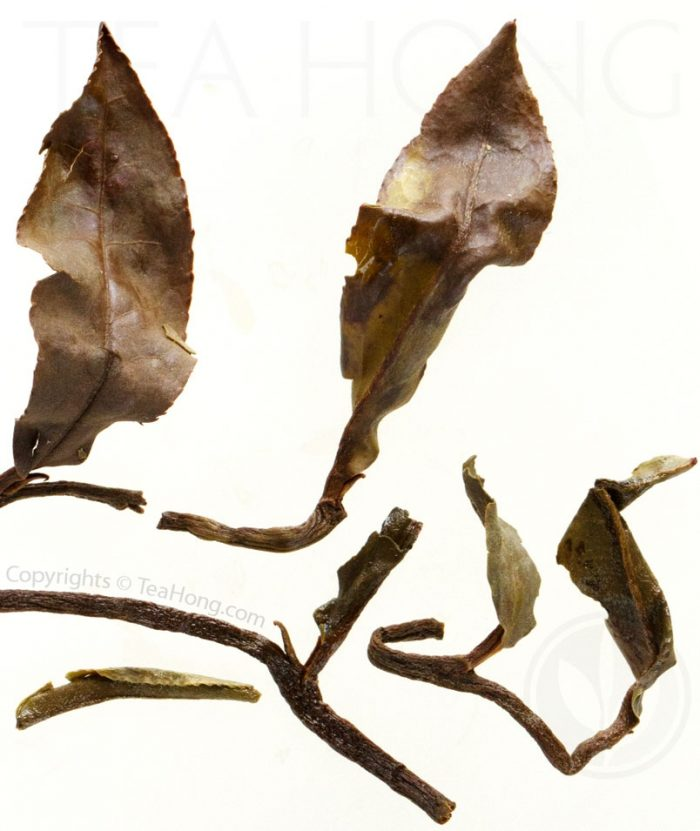 Infused leaves of this Premodern Peony indicate a much deeper oxidation than other white peonies