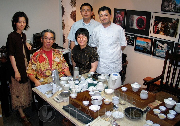 Vocational tea students from Japan at a certification test by Leo