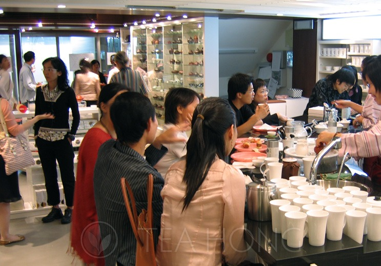 An interior scene of a tea retail space previously operated by Leo