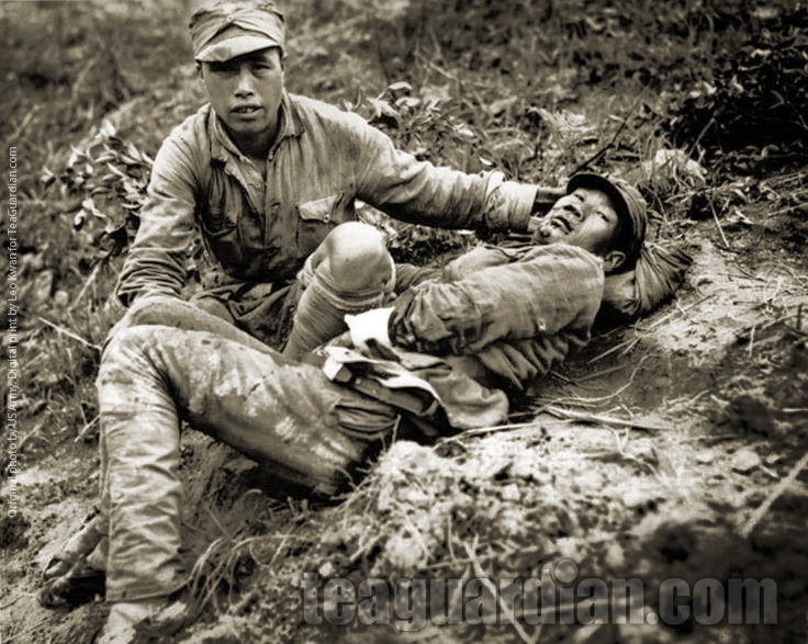 Wounded Soldier waiting for help, Burma Campaign
