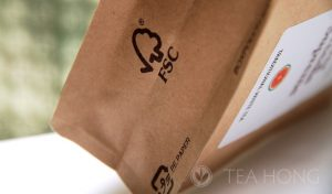 FSC logo on Tea Hong packaging