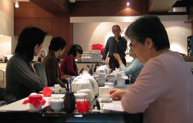 Leo Kwan in a tea workshop