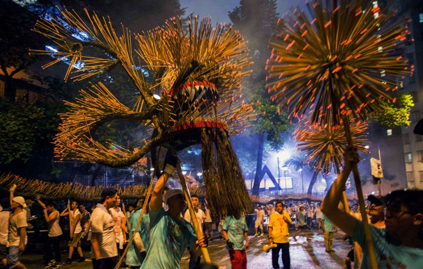 Fire-dragon in Tai Hang, Hong Kong