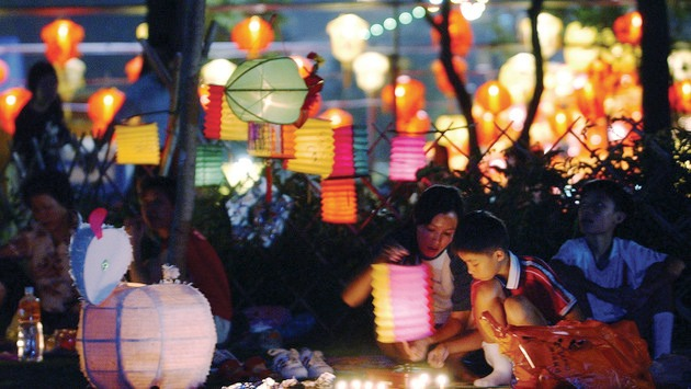 Lanterns in the park