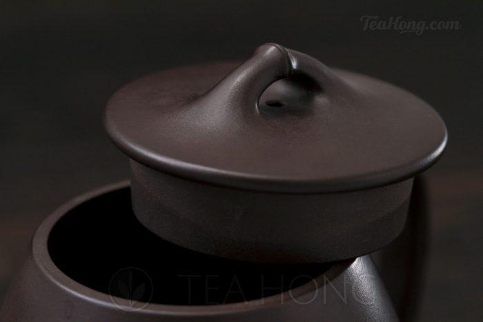 Yixing teapot — Wu Min: Bamboo Shi-piao lid