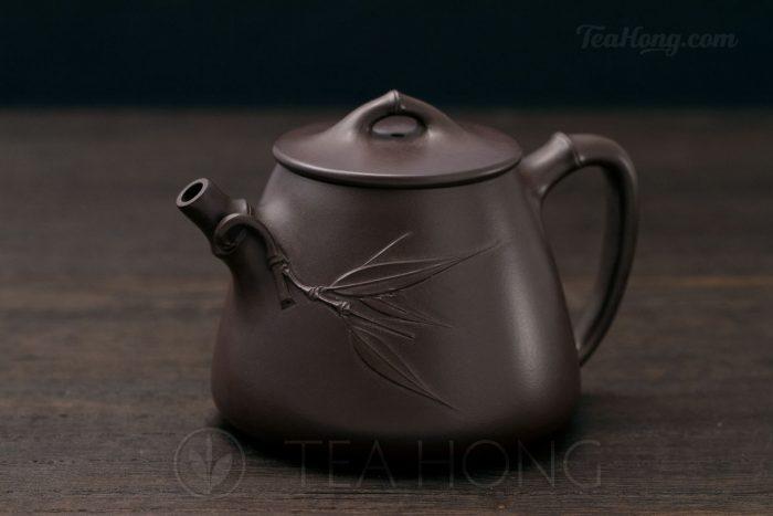 Yixing teapot — Wu Min: Bamboo Shi-piao sideview