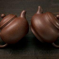 Yixing teapot — Yang Li Ya: Zijinsha in two styles