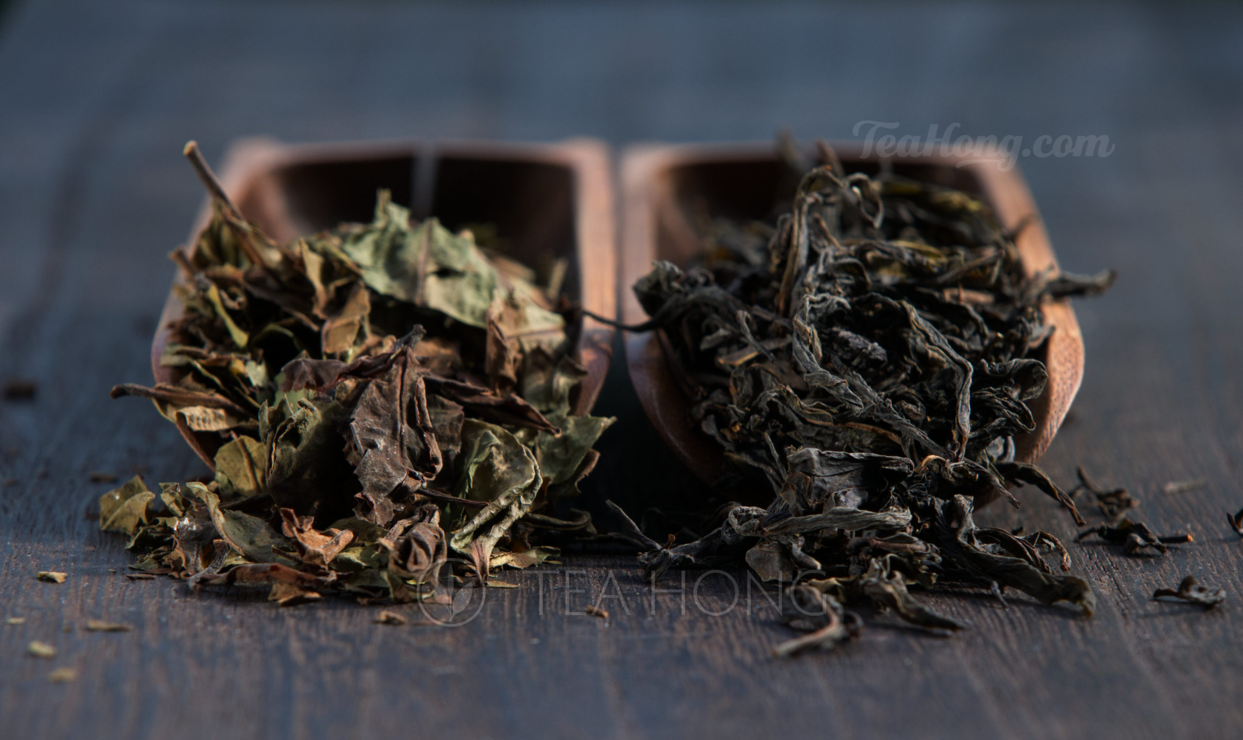 Comparing a lighter oxidation Hong Yu white tea with Deep White