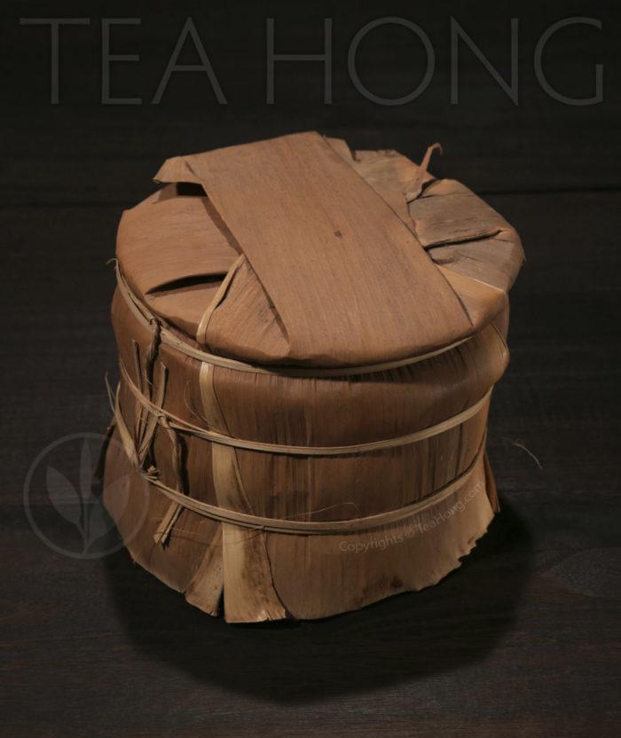 Tea Hong: Lao Tong Zhi 7548 2007, discus with original bamboo bundle column