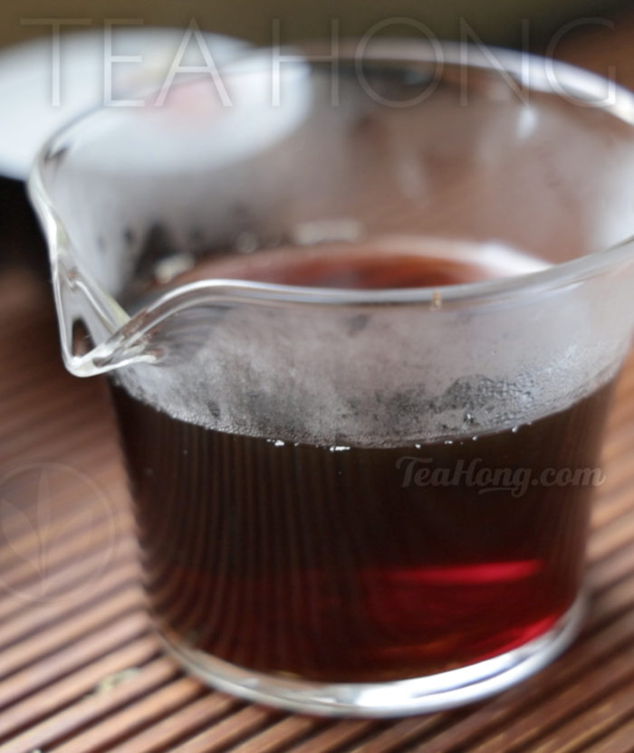 Bulang Old Tree Shu Puer, infusion colour