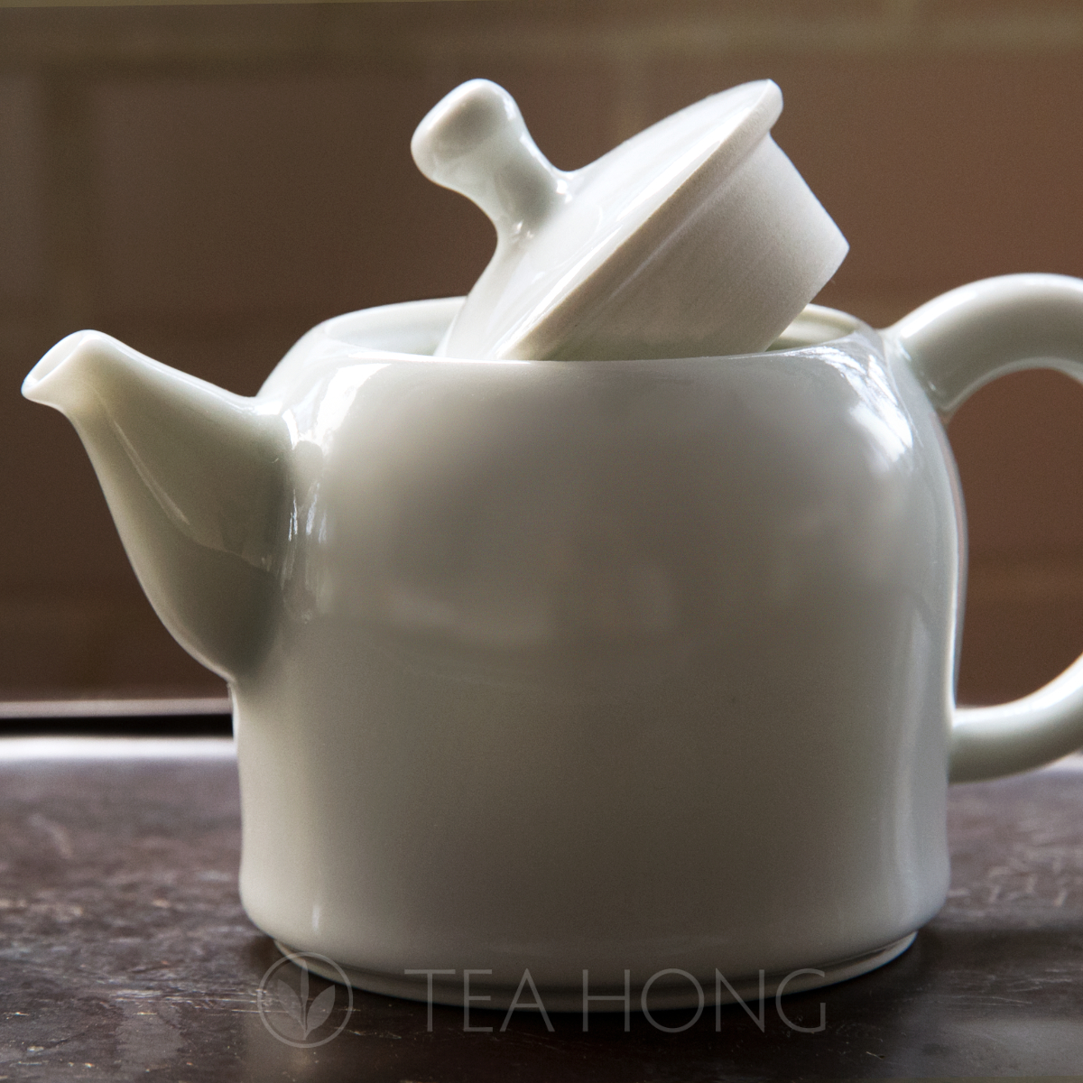 A porcelain teapot