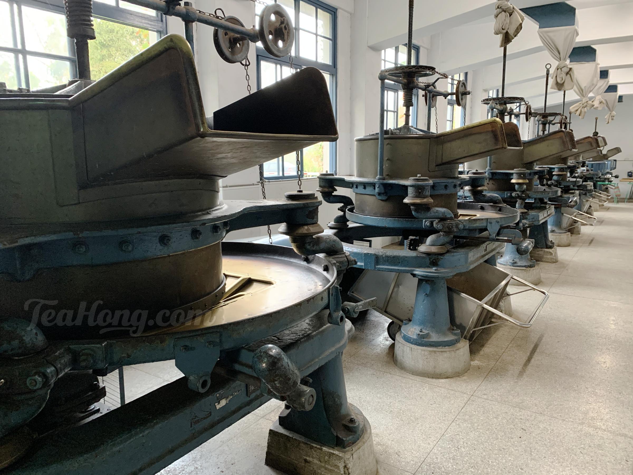 Old tea rolling machines